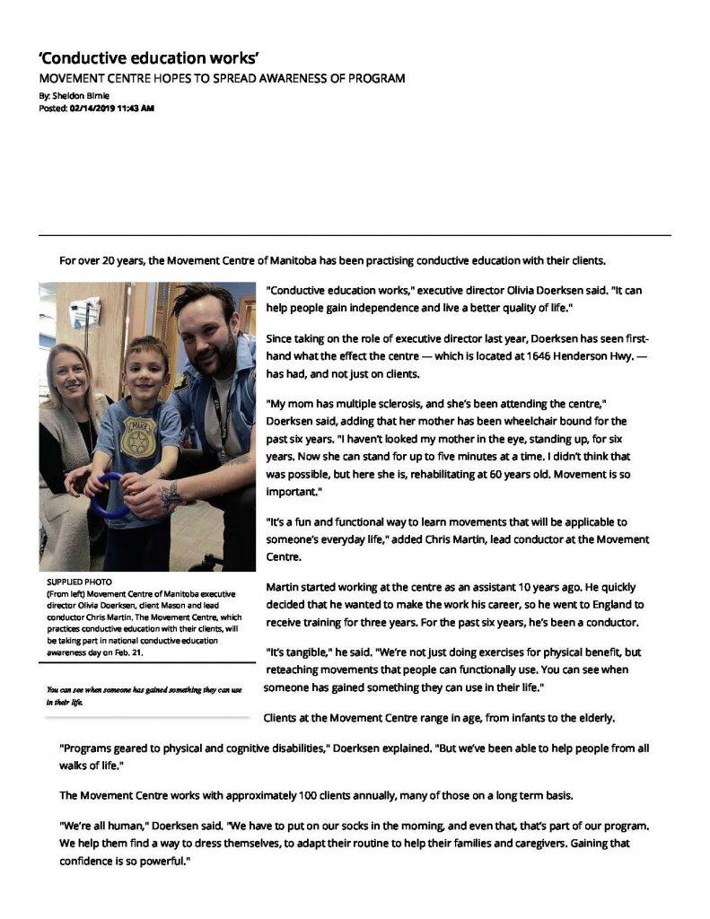 'Conductive education works' - Winnipeg Free Press_Page_1