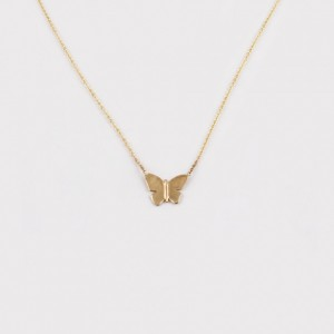MC Butterfly Necklace Gold