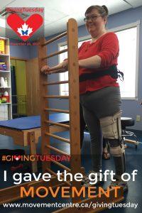 I gave the gift of movement - Linda