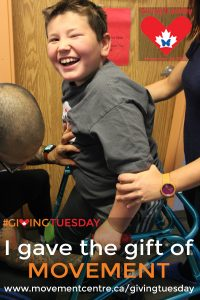I gave the gift of movement - Zach