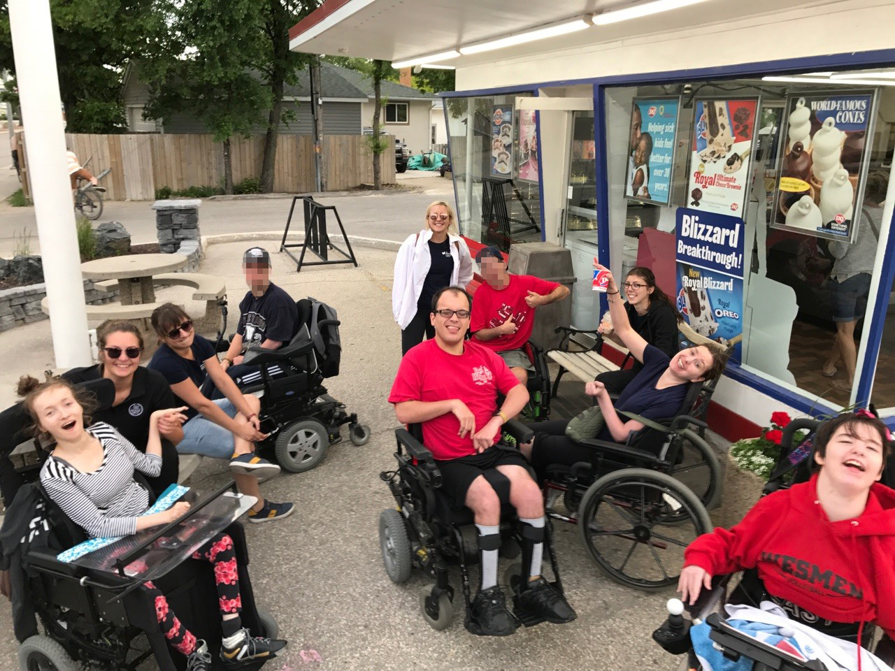 Life Skills Clients - excursion to DQ - June 2017_blurred