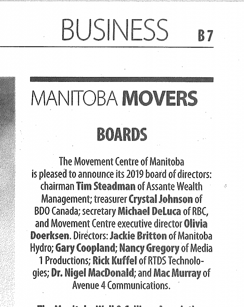 MB Movers - BoD Announcement 2019